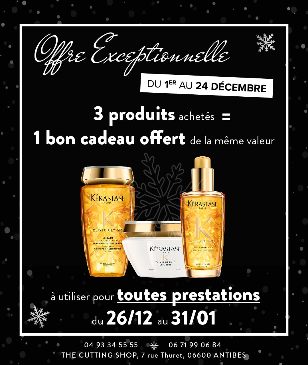 Offre spéciale Noël – The Cutting Shop Antibes